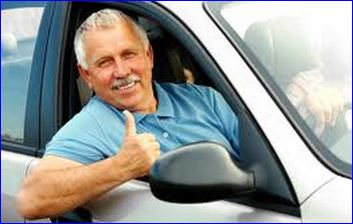Man Getting Cheap Over 50s Car Insurance